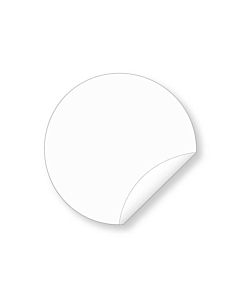 38mm Biodegradable Clear Seal Sticker