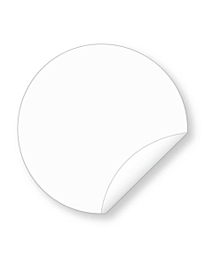 50mm Biodegradable Clear Seal Sticker