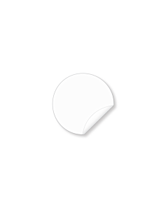 20mm Biodegradable Clear Seal Sticker
