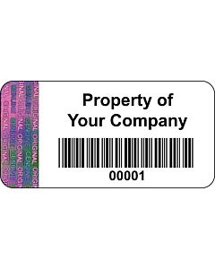 Personalised Tamper Evident Asset Labels 40x20mm
