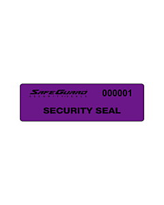 SafeGuard No Residue Seal Labels 100x25mm
