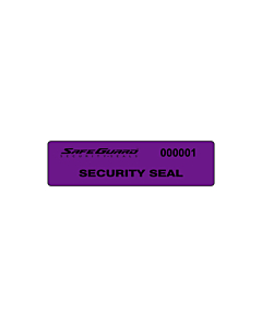 SafeGuard No Residue Seal Labels 75x20mm