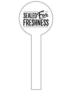 Sealed For Freshness Jar Seal Labels 35x90mm