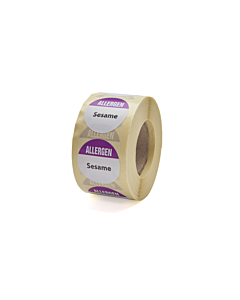 Allergen Sesame Labels 25mm Permanent