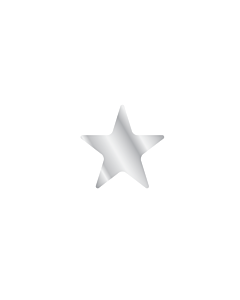 Silver Star Shaped Stickers 10mm