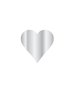 Silver Heart Stickers 15x15mm