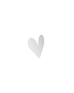 Silver Heart Stickers 5x7mm