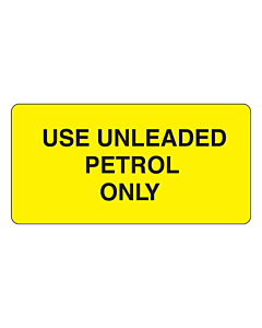 Use Unleaded Petrol Only Labels