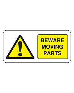 Beware Moving Parts Labels