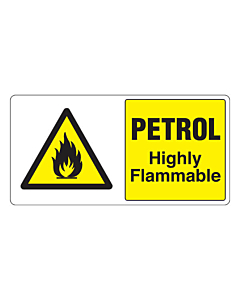 Petrol Highly Flammable Labels