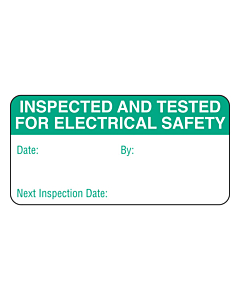 Green Inspected & Tested Labels 50x25mm