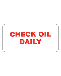 Check Oil Daily Labels 50x25mm