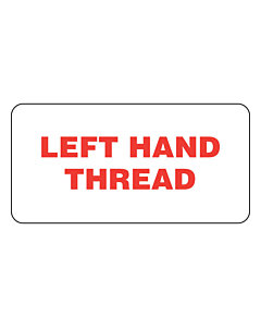 Left Hand Thread Labels (50x25mm)