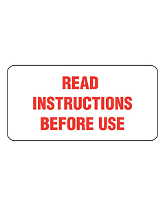Read Instructions Before Use Labels 50x25mm