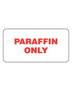 Paraffin Only Labels (50x25mm)