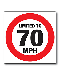 Limited to 70mph Stickers