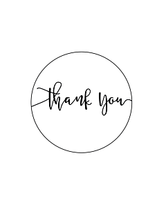 Thank You Stickers 40mm
