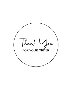Thank You For Your Order Stickers 40mm