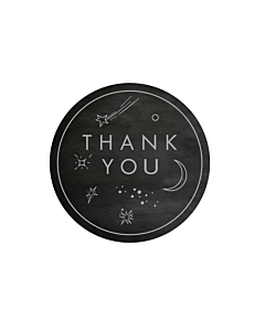 Thank You Moon Stickers 40mm