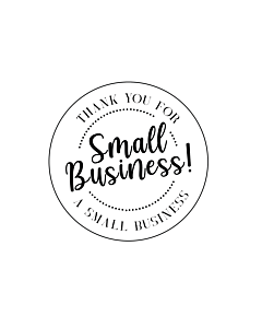 Thank You for Supporting a Small Business Stickers 40mm