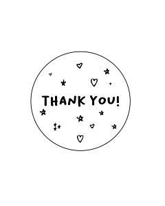 Thank You Stars Stickers 40mm