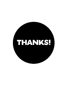 Thanks Stickers 40mm