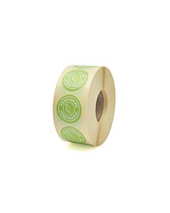 Vegetarian Stickers 25mm