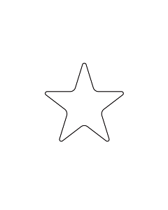 White Star Shaped Stickers 20mm
