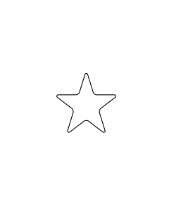 White Star Shaped Stickers 10mm
