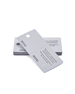 White Cloakroom Tags