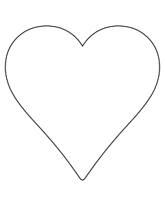 White Heart Stickers 43x43mm