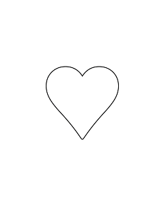 White Heart Stickers 15x15mm