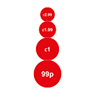 Red 20mm Price Labels