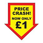 Price Crash £1 Labels 44x47mm Permanent