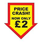 Price Crash £2 Labels 44x47mm Permanent