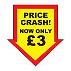 Price Crash £3 Labels 44x47mm Permanent