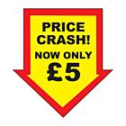 Price Crash £5 Labels 44x47mm Permanent