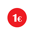 €1 Labels 30mm Permanent