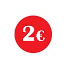 €2 Labels 30mm Permanent