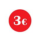 €3 Labels 30mm Permanent