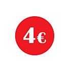 €4 Labels 30mm Permanent