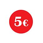 €5 Labels 30mm Permanent