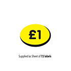 £1 Price Label 19x14mm Permanent