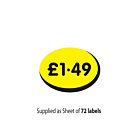 £1.49 Label 19x14mm Removable