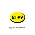 £1.99 Price Label 19x14mm Permanent