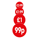 Red 30mm Price Labels