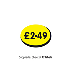 £2.49 Label 19x14mm Removable
