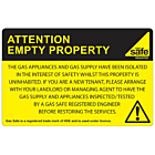 Attention Empty Property Labels 100x65mm