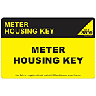 Meter Housing Key Labels 100x65mm
