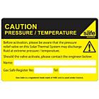Caution Pressure / Temperature Labels 100x65mm